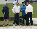 Play was abandoned after conversations between umpires, captains and groundstaff, Northamptonshire v Sri Lankans, Tour match, Wantage Road, 3rd day, June 7, 2014