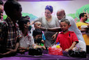 Vinod Kambli celebrates his son Jesus' birthday with cancer-affected children, Mumbai, June 8, 2014