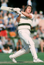 Gary Gilmour in action against the English Taverners, Arundel, August, 1980