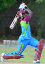Nkrumah Bonner drives, Sagicor High Performance Centre v Bangladesh A, Barbados, June 12, 2014