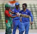 Parvez Rasool finished with 2 for 60, Bangladesh v India, 1st ODI, Mirpur, June 15, 2014