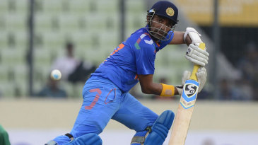 Robin Uthappa steers the ball down the off side