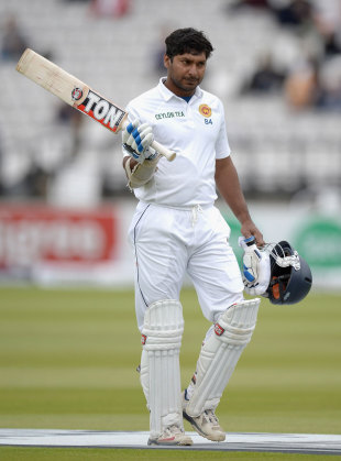 Kumar Sangakkara passed 50 for the second time in the match, England v Sri Lanka, 1st Investec Test, Lord's, 5th day, June 16, 2014
