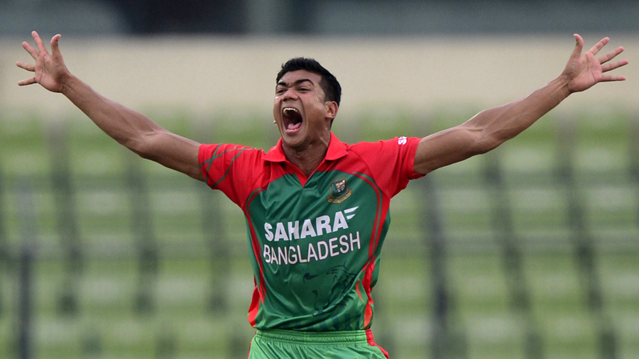 Taskin Ahmed's 5 for 28 was the fifth-best figures on ODI debut