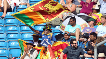 Sri Lanka fans provided a colourful presence