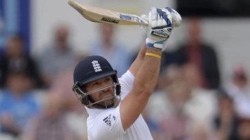 Matt Prior helped take England's lead above 100