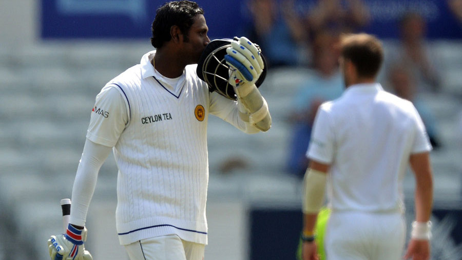 Angelo Mathews made his third ton as Test captain