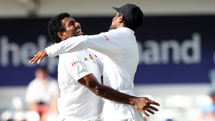 A magic evening: Dhammika Prasad enjoyed the best spell of his career