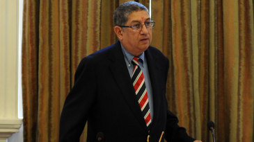 N Srinivasan at an ACC meeting