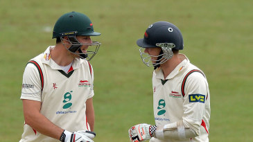 Greg Smith (left) and Angus Robson (right) added 221 for the second wicket