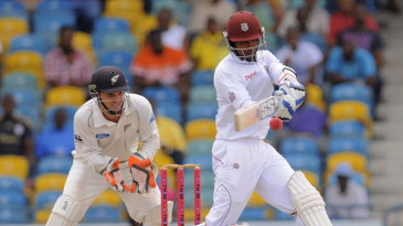 Denesh Ramdin pulls during his 45