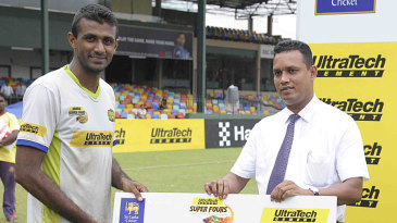 Farveez Maharoof was Man of the Match for his unbeaten 42 off 27