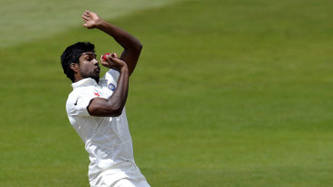 Varun Aaron climbs into his delivery stride