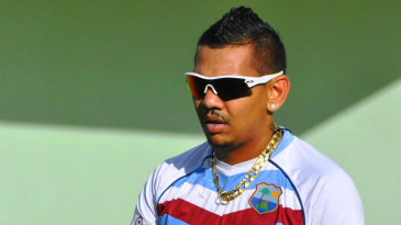 Sunil Narine at training