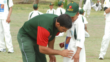 Kids get coached by Afghanistan players