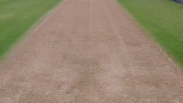 Where's the green? The pitch at Trent Bridge