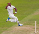 Tino Best in his delivery stride, MCC v Rest of the World XI, Lord's, July 5, 2014