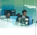 Andrew Strauss and Mike Atherton in the commentary box, MCC v Rest of the World XI, Lord's, July 5, 2014