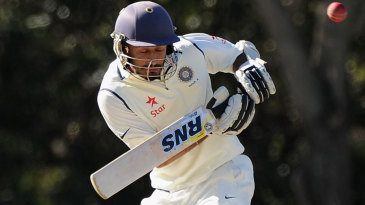 Jiwanjot Singh tries to fend off a short ball