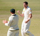 Chadd Sayers struck early in the Indian innings, Australia A v India A, 1st unofficial Test, Brisbane, 4th day, July 9, 2014