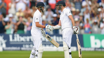Joe Root and James Anderson added 198 for the final wicket