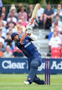James Foster swings on his way to 36 in 21 balls, Essex v Kent, NatWest T20 Blast, Colchester, July 12, 2014