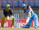 Henry Davids hits out during his 56, St Lucia Zouks v Jamaica Tallawahs, CPL 2014, Grenada, July 12, 2014