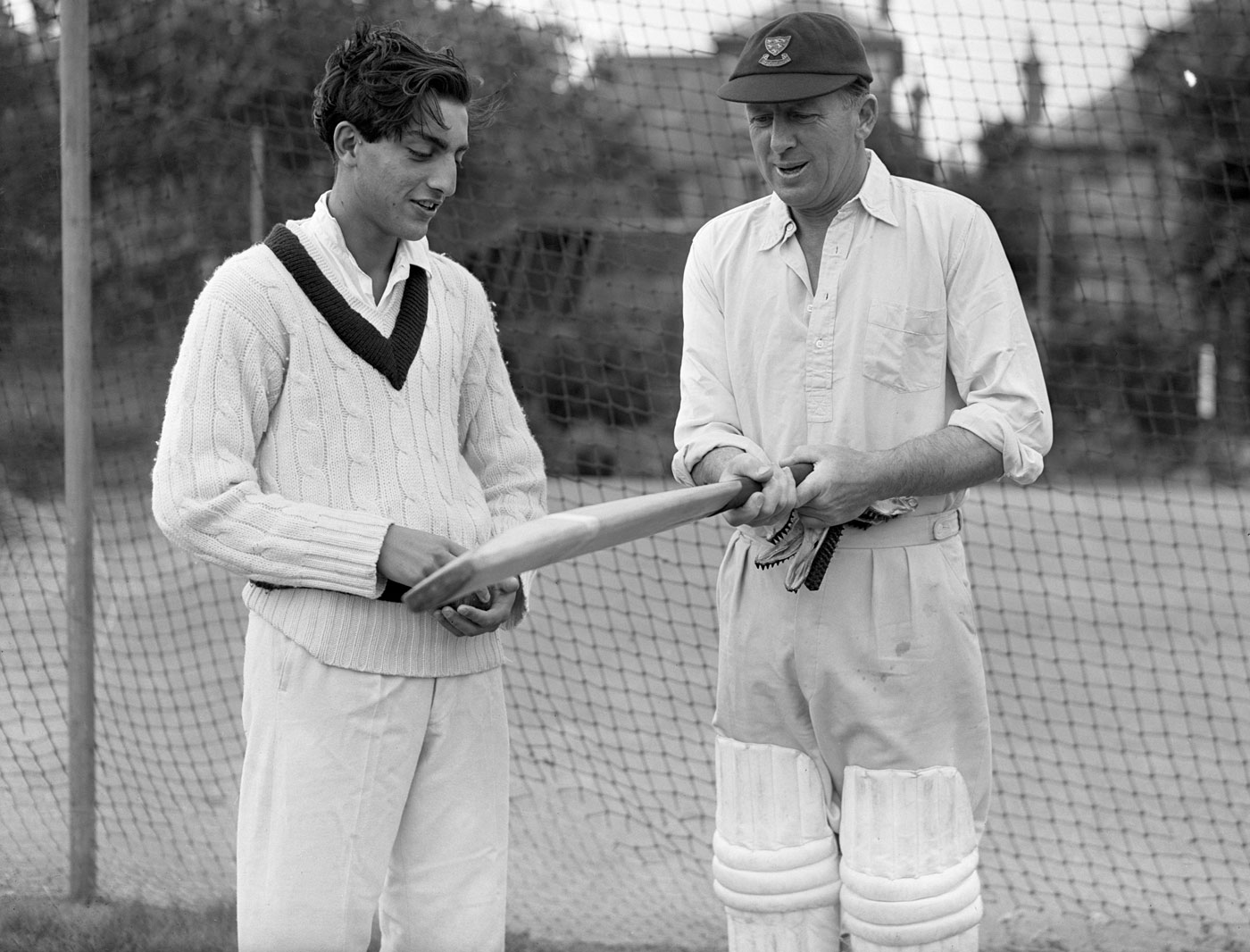 Vintage photos of cricketers accept