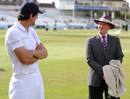 You talkin' to me: Alastair Cook and Geoff Boycott have a chat after the match, England v India, 1st Investec Test, Trent Bridge, 5th day, July 13, 2014