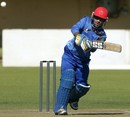 Noor Ali Zadran pulls one to the leg side, Zimbabwe v Afghanistan, 1st ODI, Bulawayo, July 18, 2014