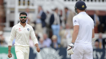 Ravindra Jadeja and James Anderson come face to face