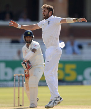 Liam Plunkett struck twice in two deliveries, England v India, 2nd Investec Test, Lord's, 3rd day, July 19, 2014