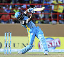 Mervin Mathew struck a couple of sixes in his 21, Guyana Amazon Warriors v St Lucia Zouks, CPL 2014, Providence, July 19, 2014