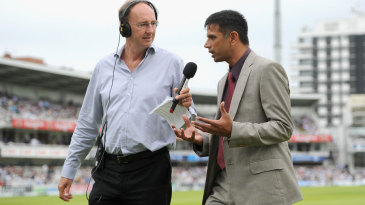 Jonathan Agnew and Rahul Dravid discuss the match on radio