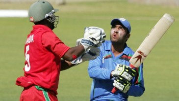 Usman Ghani scored his maiden century in his fourth ODI