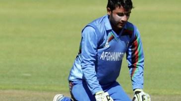 Usman Ghani celebrates reaching his maiden century