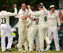 Tim Linley claimed a wicket late in the day, Surrey v Kent, County Championship, Division Two, Guildford, 1st day, July 20, 2014