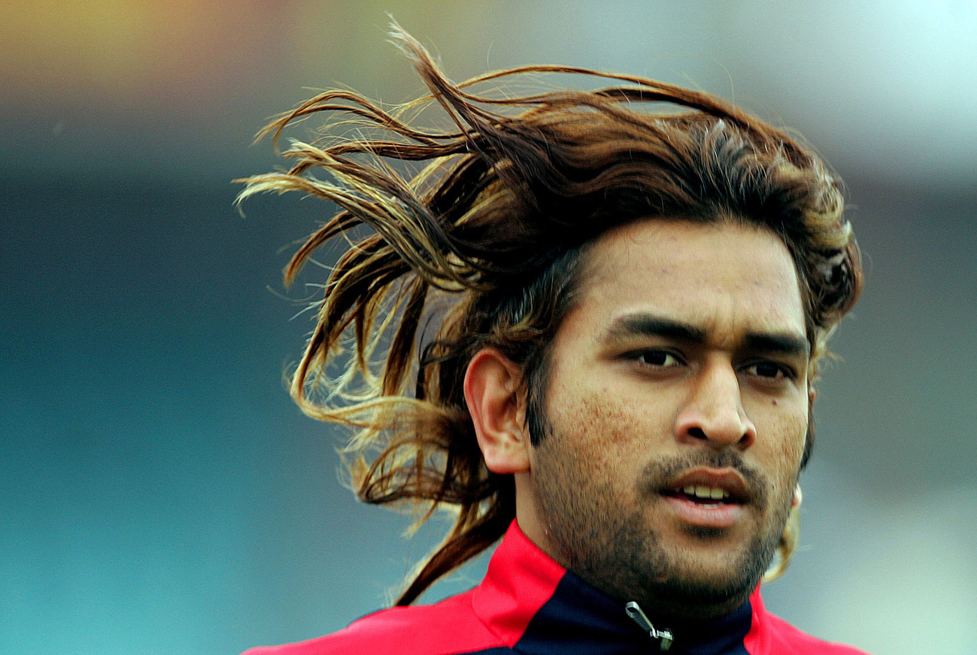 As wild as he got: Dhoni in his long-haired youth