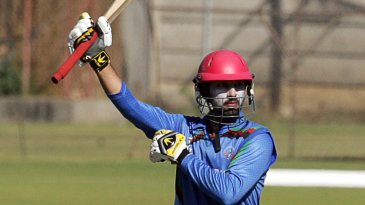 Javed Ahmadi celebrates his half-century