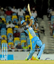 Keddy Lesporis plays a lofted shot, Barbados Tridents v St Lucia Zouks, CPL 2014, Bridgetown, July 23, 2014