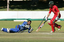 Sean Williams was run out by Shafiqullah for 1, Zimbabwe v Afghanistan, 4th ODI, Bulawayo, July 24, 2014