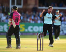 Stuart Meaker took career-best T20 figures of 4 for 30, Middlesex v Surrey, NatWest Blast T20, Lord's, July 24, 2014