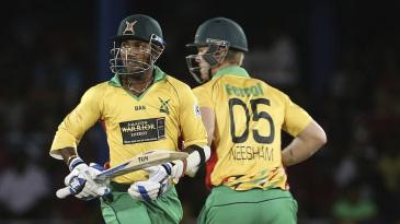 Denesh Ramdin and Jimmy Neesham added 122 for the fourth wicket