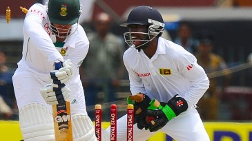 Quinton de Kock didn't know much about the ball that hit his off stump