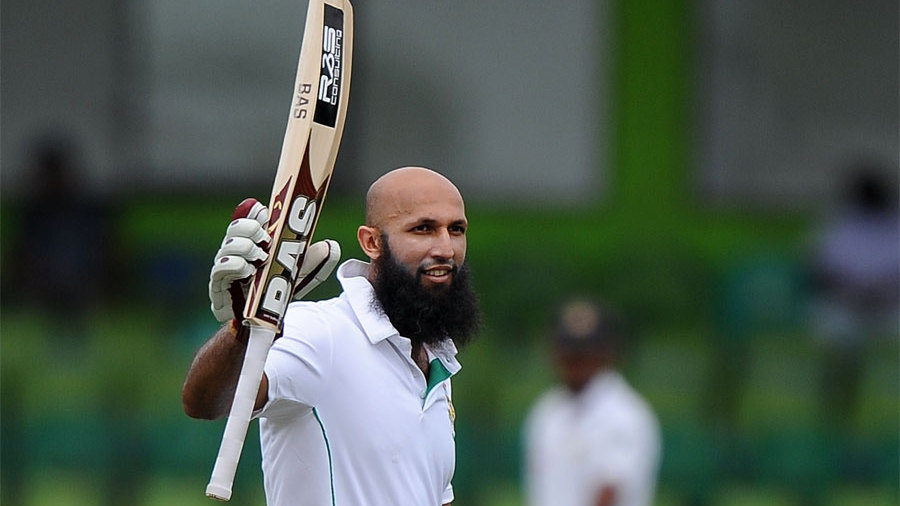 Hashim Amla registered his first Test ton against Sri Lanka