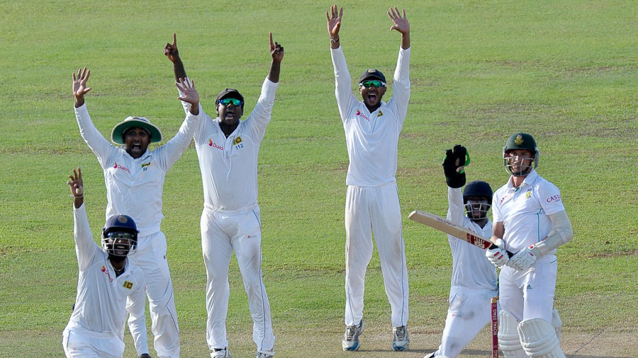 Please, please, please!!: Sri Lanka appeal desperately for Dale Steyn's wicket