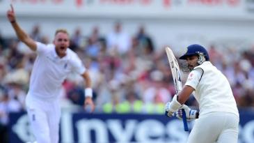 Howzzat! M Vijay middles one towards square leg