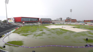 Cricket ground or lake? Heavy rain forced the first T20 Blast quarter-final into a reserve day