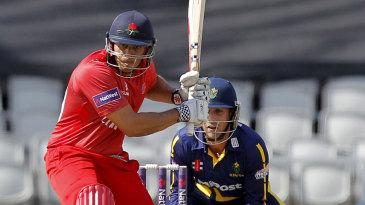 Usman Khawaja carried Lancashire with 67 off 54 balls