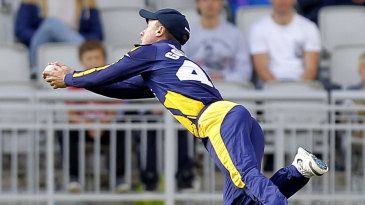 Murray Goodwin took a fine catch to remove Paul Horton